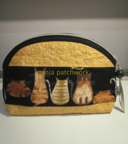 Necessaire Gatos by tania patchwork