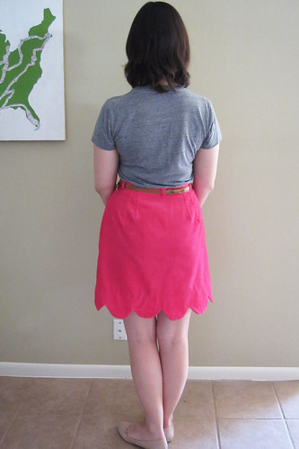Pink Scalloped Skirt
