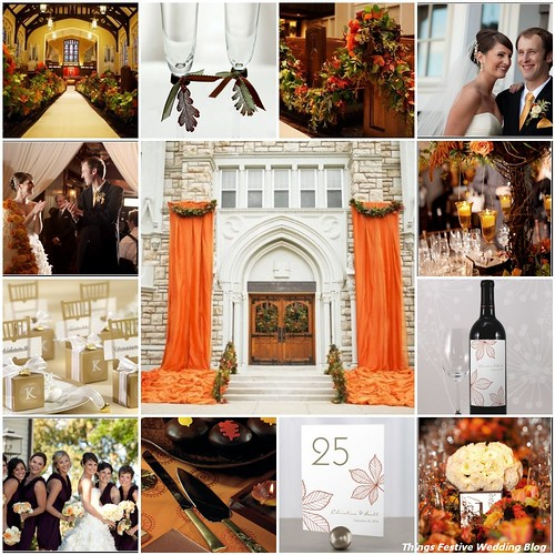 Elegant Fall Wedding Decorations Resources Church exterior pew swags