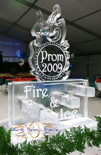 Fire & Ice for Prom ice sculpture