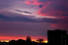 IMG_8598B (Moneyfish.) Tags: pink sunset sky t zonsondergang lucht roze huizen gooi regentesse