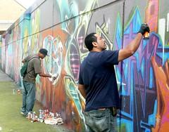 BG183 & Bio (Voodoodi London) Tags: street streetart london art graffiti bio fans goldie ghetto cru bonzai nicer tats stockwell bg183 bims farceur solo1