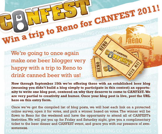 CANFEST Beer Blogger Contest