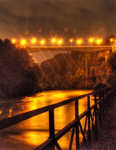 Ponte di Trezzo di notte by Davide Comotti