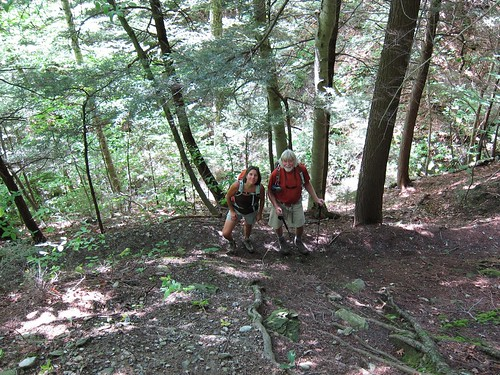 Nora and Dave on Money Brook Trail, Mt. Greylock