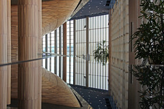 Inside the Palace of Arts 10 (Romeodesign) Tags: wood windows glass lines architecture reflections mirror hungary geometry interior balcony budapest arts piano palace 550d palaceofarts palotja mpa mvszetek gettyhungary1