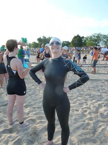 Erica in her wetsuit