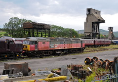 Carnforth Lancashire 25th August 2011 (loose_grip_99) Tags: uk railroad england train concrete br northwest diesel shed engine rail railway trains brush lancashire depot locomotive railways coalingtower steamtown hanks carnforth lms mpd britishrailways wcr class47 class37 cathedralsexpress 47772 westcoastrailways ashplant