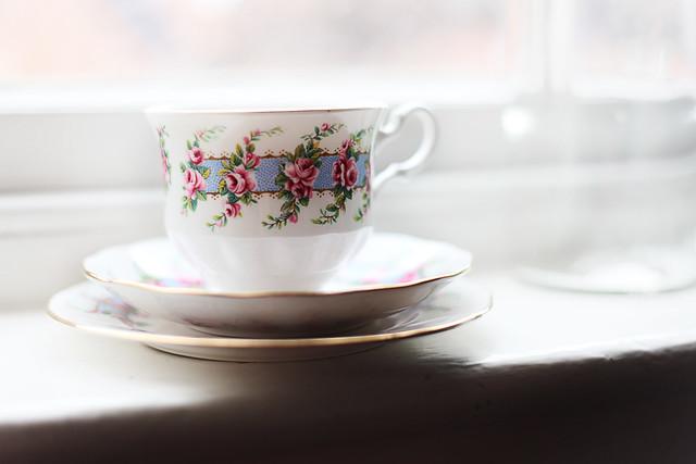 Floral Gladstone Tea Trio