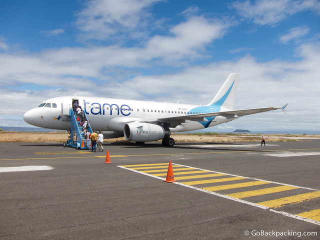 The airport runway on Santa Cruz Island