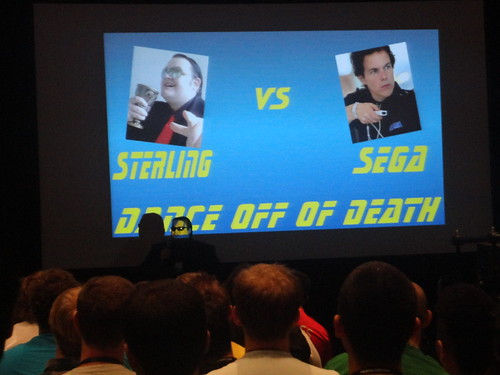 Sega vs Destructoid dance competition