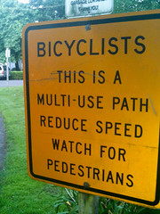 Sign on I-205 path-1