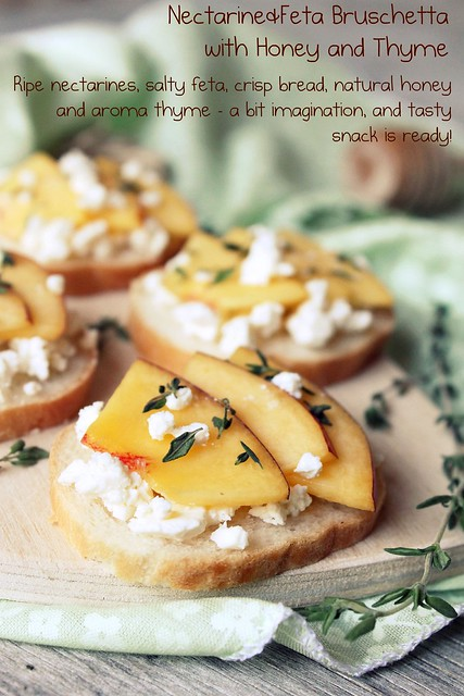 Nectarine&Feta Bruschetta with Honey and Thyme