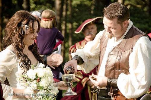 Wedding Dresses Under 500: Sheila & Jason's Medieval Handfasting Under The Trees