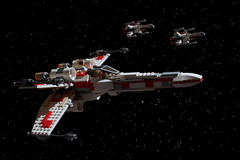 """This is Red Five; I'm going in!"" (Blockaderunner) Tags: new red death hope star fighter ship lego five space xwing wars yavin t65 incom 6212"