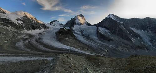 Vue du refuge Grand Mountet