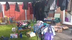 Garden Sale (bryanpage) Tags: garden shoes clothes bootfair gardensale