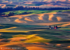 Waves of Illumination (James Neeley) Tags: morning autumn sunrise landscape washington bravo hdr palouse steptoebutte 5xp jamesneeley