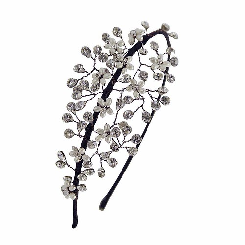 Blossom side diamante vintage inspired bridal tiara