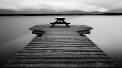 Autumn Gray, nnsjn (kkorsan) Tags: longexposure blackandwhite lake monochrome nikon sweden jmtland re 2011 d90 vle blackwhitephotos hoyandx400 nn nnsjn flickraward5