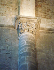 Monestir de Sant Pere de Galligants, Gerona, engaged column capital