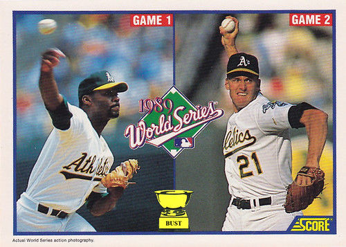 Baseball Card Bust Dave Stewart And Mike Moore 1990 Score