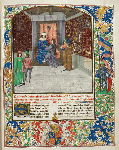 The author presenting his chronicle to Edward IV by eyemagazine