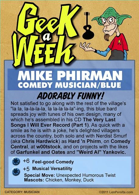 Geek A Week Season 2: Mike Phirman (cardback)