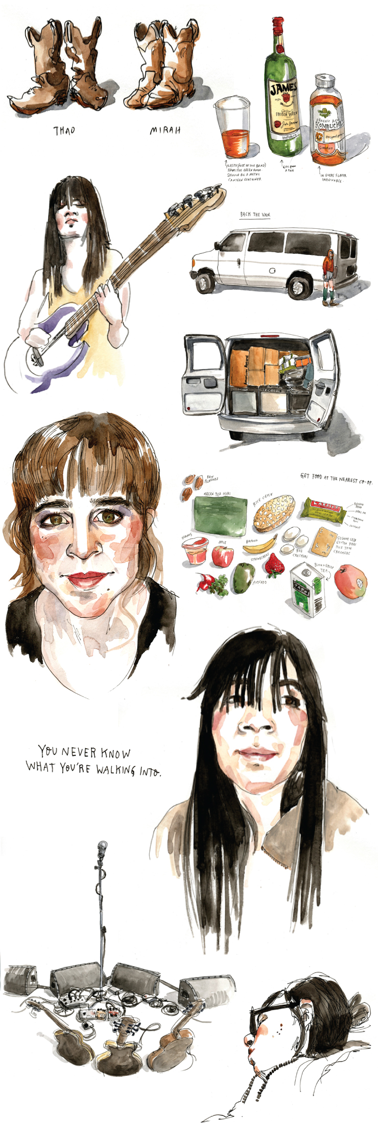 Thao + Mirah on tour by Wendy Macnaughton