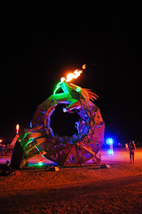 ouroboros (hep) Tags: man art fireworks playa burningman blackrockcity burning burn brc blackrock ouroboros 2011 burningman2011