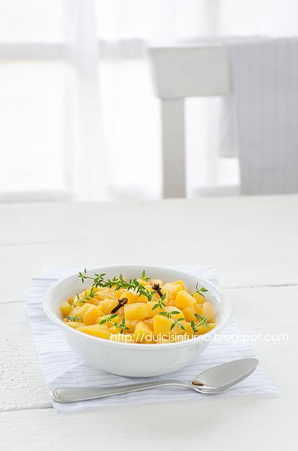 Zuppa Fredda di Pesche al Timo e Chiodi di Garofano-Clove and Thyme Cold Peach Soup