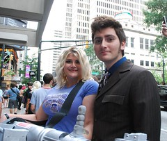 Doctor and Rose (Stormraven24) Tags: startrek fiction comics costume cosplay avatar event doctorwho narnia convention scifi comicbooks mummy hellboy con dragoncon fictional dragoncon2011