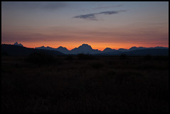 Silhouette of the Tetons (matt.sellars) Tags: travel sunset vacation chicago mountains sunsets grandtetons laborday 2011 5dmarkii 5dmark2 laborday2011