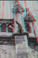 Eglise St-Pierre Caen 3D (wim hoppenbrouwers) Tags: france church 3d anaglyph gargoyle stereo gargoyles stpierre eglise caen redcyan stereopicture eglisestpierre anaglyf sintpierre eglisestpierrecaen3d