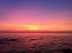 [フリー画像] 自然・風景, 海, 夕日・夕焼け・日没, 201109141900