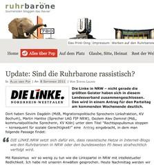Sind die Ruhrbarone rassistisch? (Ruhrbarone)