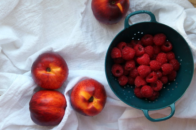 Nectarines + Raspberries