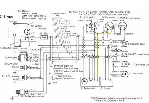 yanmar tachometer wiring diagram yanmar ignition wiring diagram