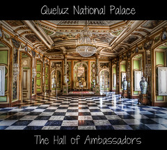 The Hall of Ambassadors (dabrantes) Tags: trip vacation history portugal hall nikon lisboa lisbon mirrors hallofmirrors hdr throne ambassadors queluz throneroom nationalpalace d5000