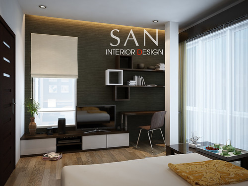 Small House Interior Design Bedroom by Santasel