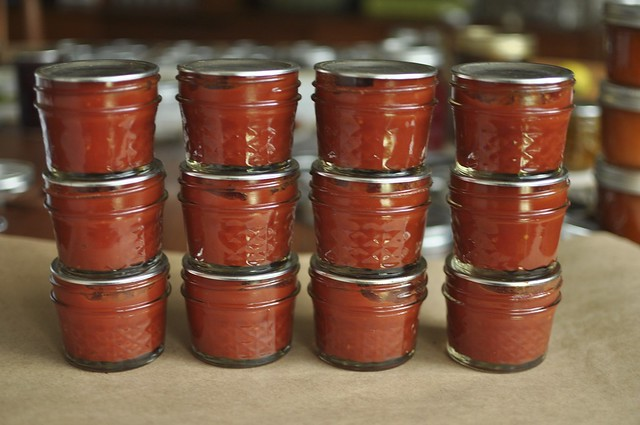 12 quart pints of tomato paste