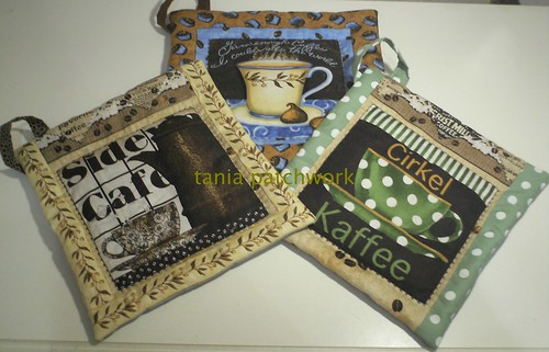 Pegas Panelas Coffee by tania patchwork
