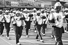 Norfolk State Spartan Legion (Kevin Coles) Tags: blackandwhite band marchingband nsu spartans 2011 hbcu blackcollegebands norfolkstateuniversity spartanlegion blackcollegesports virginialotterylabordayfootballclassic