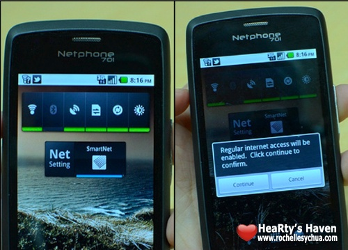 Smart Netphone Internet Setting