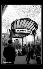 Le Mtro des Abbesses (amaurea2310) Tags: bw paris france metro mtro pb bn francia pars abbesses bwartaward