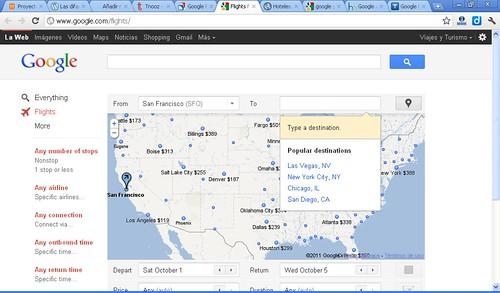nuevo buscador vuelos google