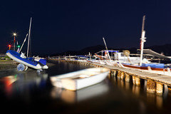Star Boardwalk (Boats at Harbour), Gcek (flatworldsedge) Tags: longexposure night port turkey boats pier harbour ghost clear boardwalk rowing planks dingy startrails starboard gocek gcek yahoo:yourpictures=reflections2