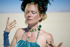 Coco de la Playa (wtbzl) Tags: nicole teal nevada burningman blackrockcity brc bm falseprofit blackrockdesert ritesofpassage colorday bm11 burningman2011 bm2011 sidneysultramegafaves2011portraits