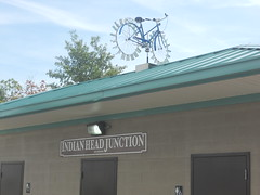 Bicycle Weather Vane by Rootchopper