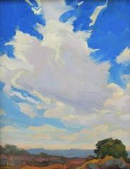 Into a Dark Blue Sky   10 x 8